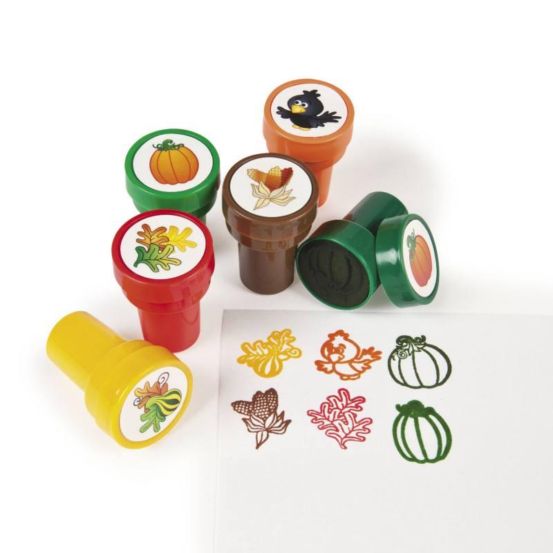 Kinderstempel rabe k rbis mais und bl tter in 6 verschiedenen motiven kinderstempel - Tischdeko kurbis ...